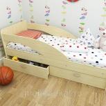 Кроха, кровать детская с бортиком, млечный дуб, 80190 см (ТМК), Екатеринбург