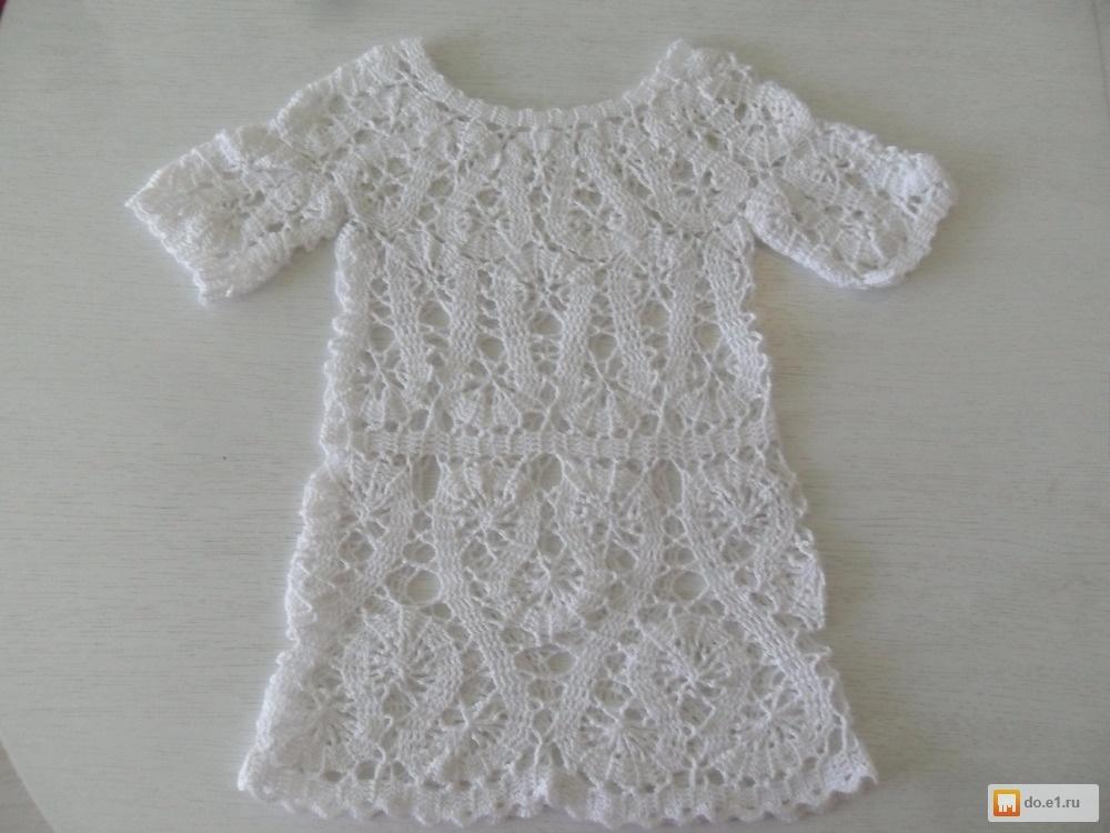 Детское кружевное платье крючком