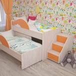 Кровать двухъярусная выкатная Матрешка Оранж (ТМК), Екатеринбург