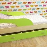 Детская кровать с ящиком Кроха-2, 80160 см, Лайм (ТМК), Екатеринбург