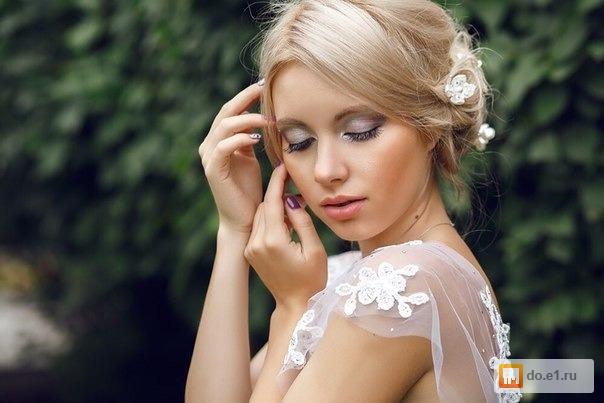 Нарощенные ресницы макияж для невесты