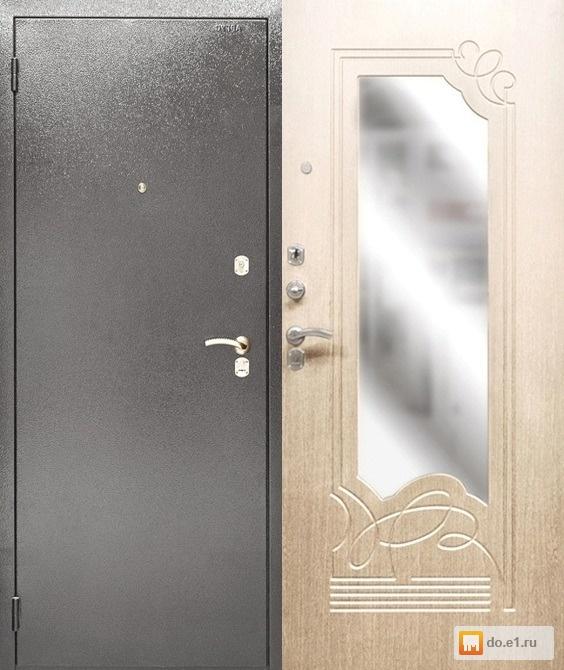 стальная дверь с зеркалом по акции