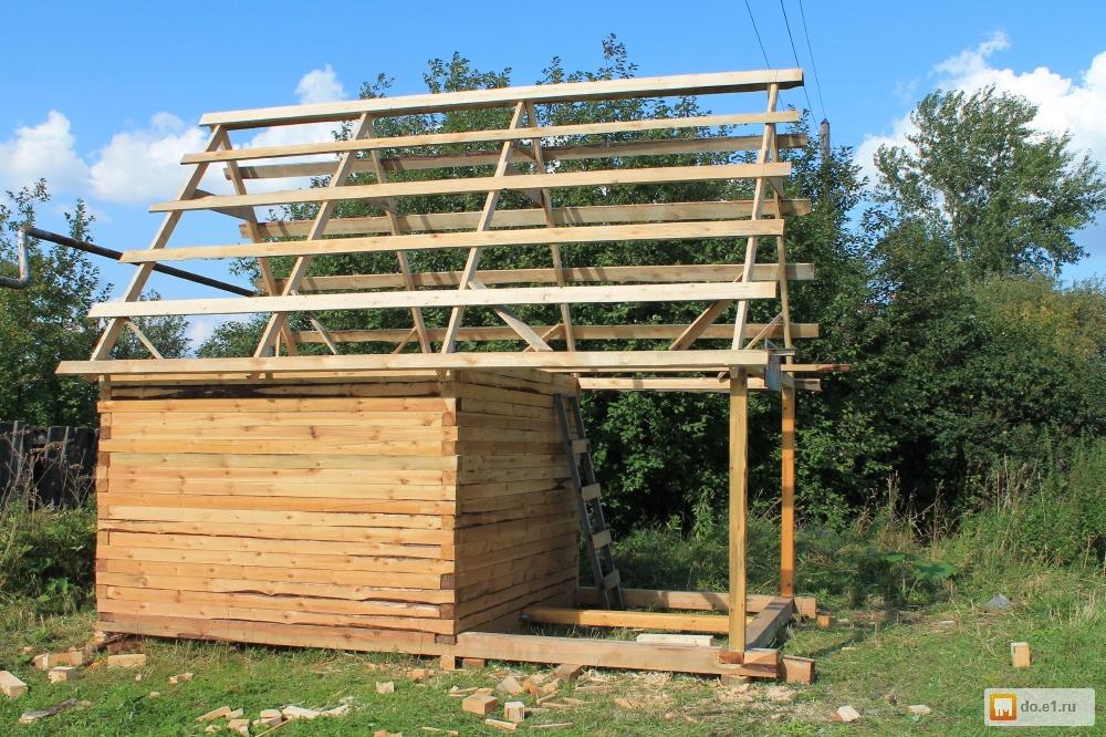 Как построить баню из бруса 100 на 100 своими руками 31