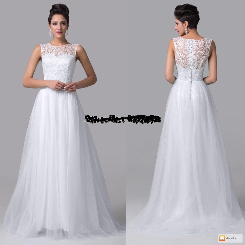 Свадебное платье без пышной юбки