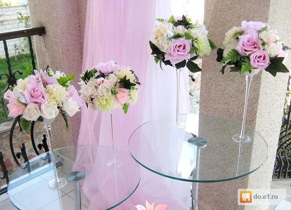 Вазы своими руками для свадебных столов 18