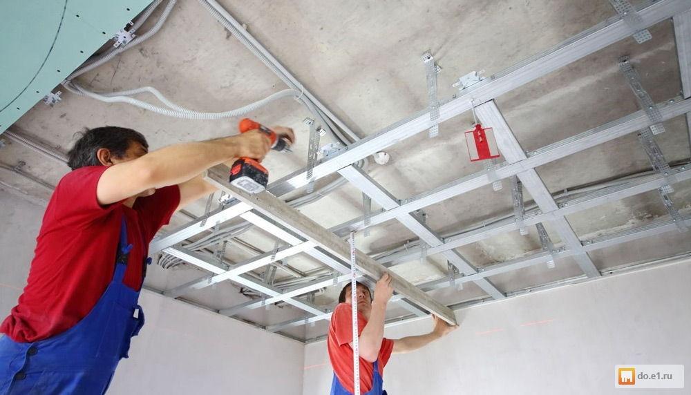 Как можно сделать потолок из гипсокартона