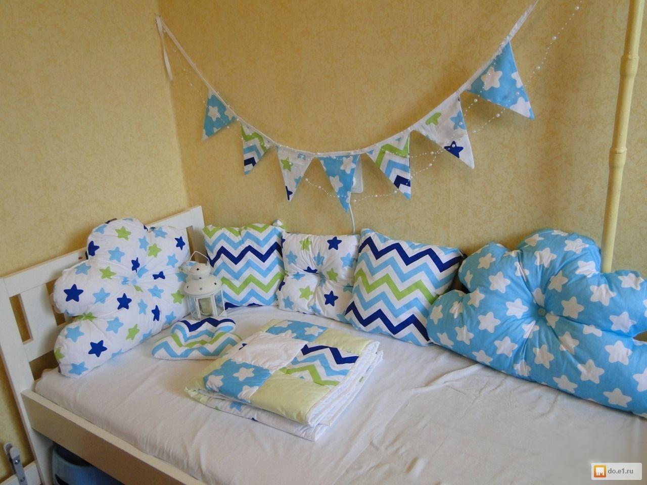 Бортики в кроватку из подушек для новорожденных выкройки