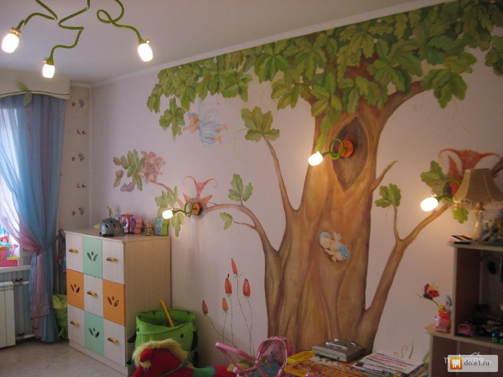 Роспись стен в детской у мальчика