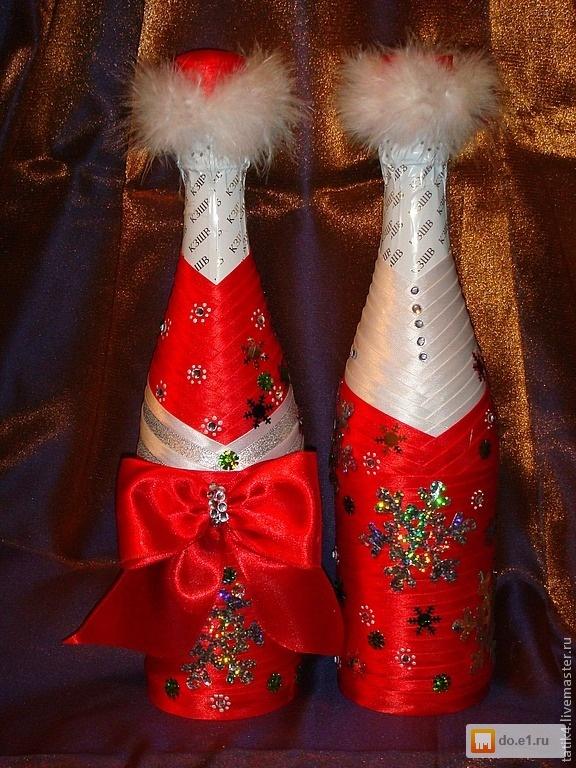 Съемное украшение для шампанского. Дед Мороз. Мастер 77