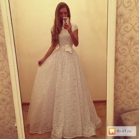 Платье золотой песок белое