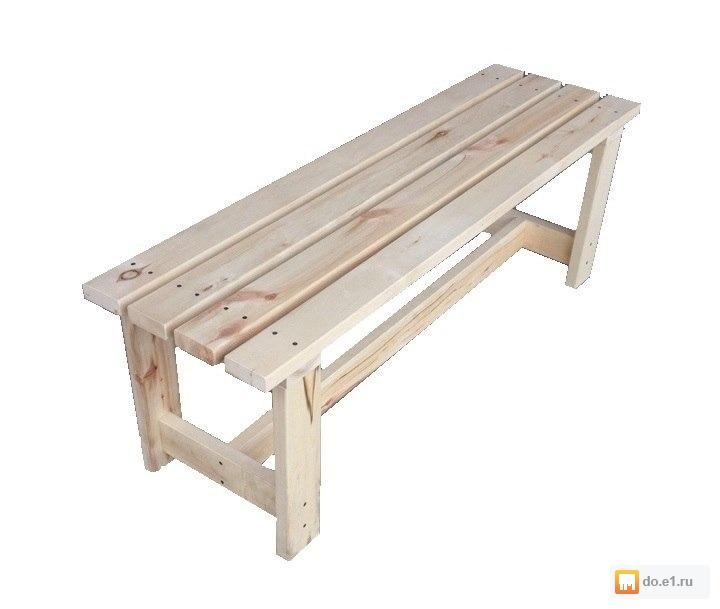 Изготовление скамейки для бани из дерева своими руками