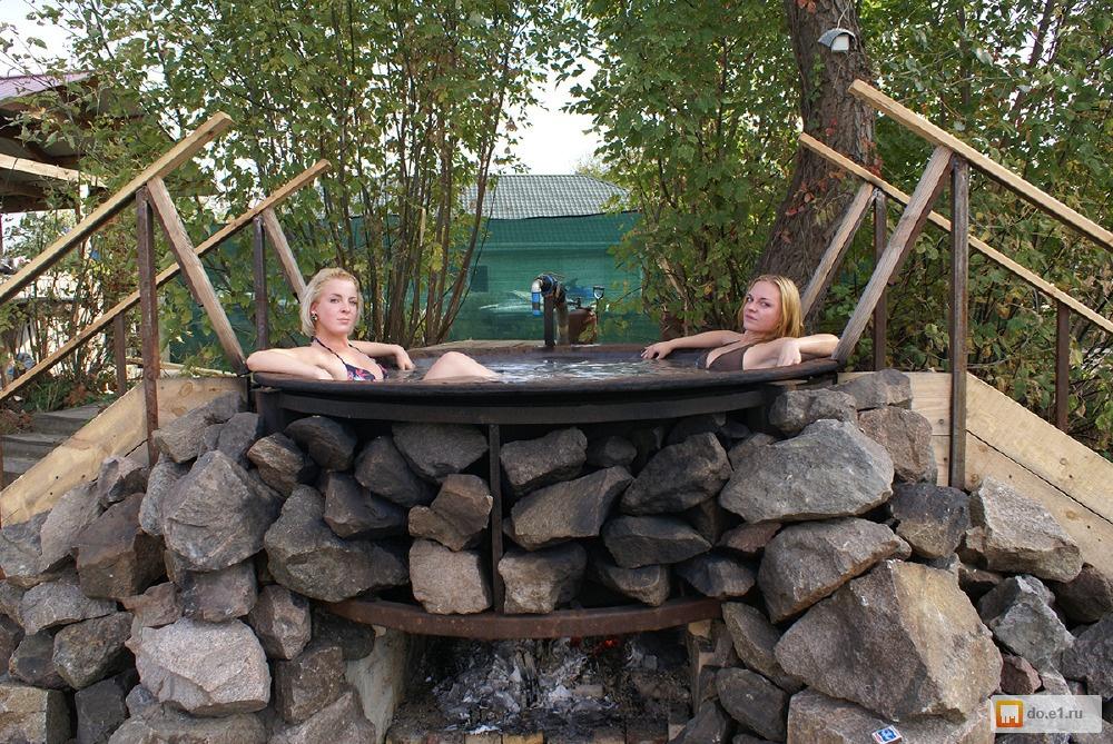 Чан для купания на дровах своими руками