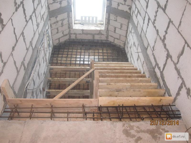 Как сделать бетонную лестницу на второй этаж