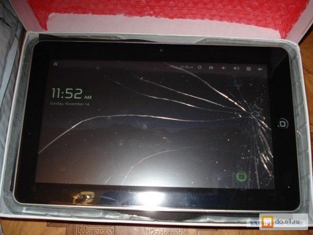 На планшет разбитый экран как его сделать