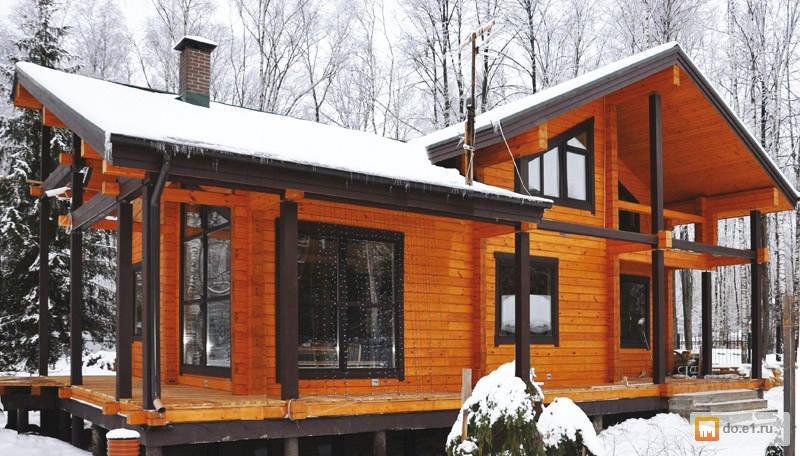 Необычные дома из бруса фото