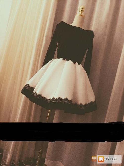 Фото короткого платья с пышной юбкой