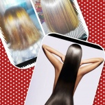 Кератиновое разгибание равно возобновление волос, Екатеринбург