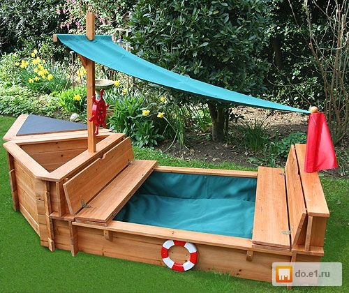 Как сделать песочницу деревянную
