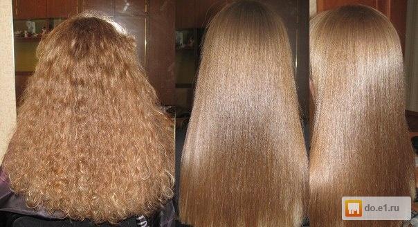 Кератиновое выпрямление на очень кудрявые волосы