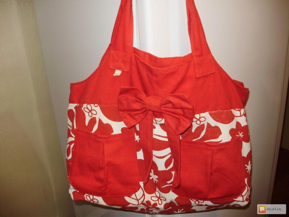 Пляжная сумка из льна