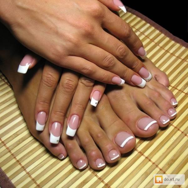 Наращивание ногтей маникюр шеллак