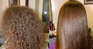 Выпрямление кератином кудрявых волос