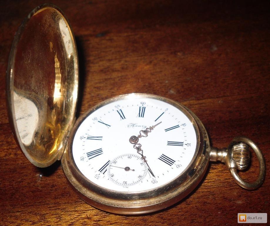 Уникальное фото Антиквариат Продам золотые карманные коллекционные швейцарские часы Henry Moser 31704180 в