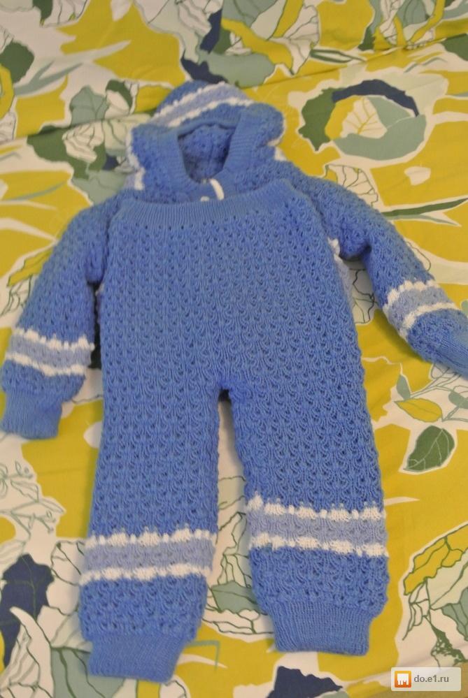 Связать теплый костюмчик для мальчика 1 год