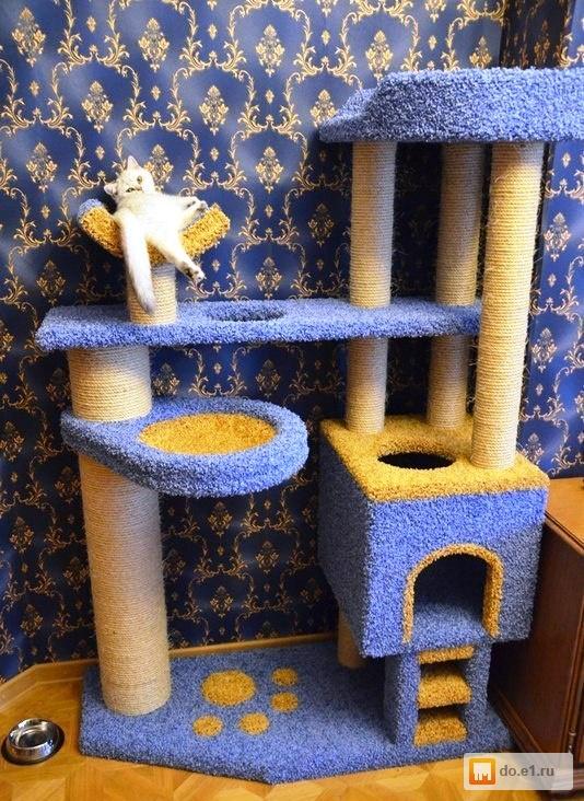 Домик из ковролина для кошки