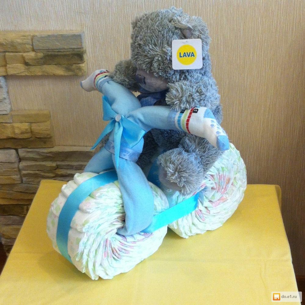 Мишка из памперсов своими руками пошагово фото 29