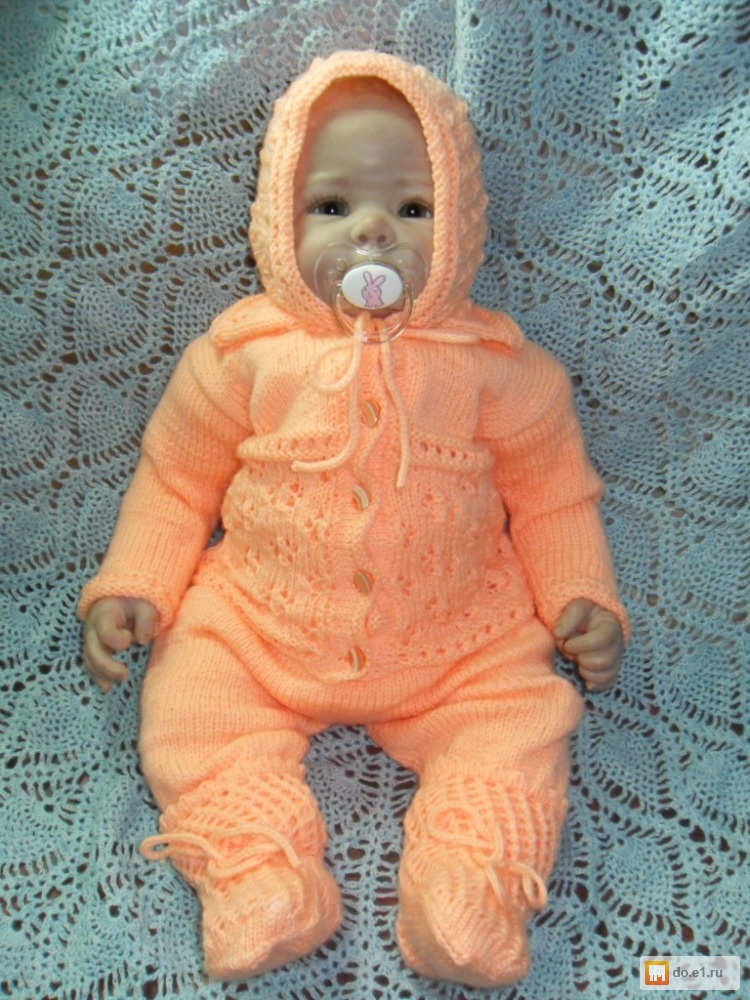 Вязание для новорожденных костюмчик для девочки 21