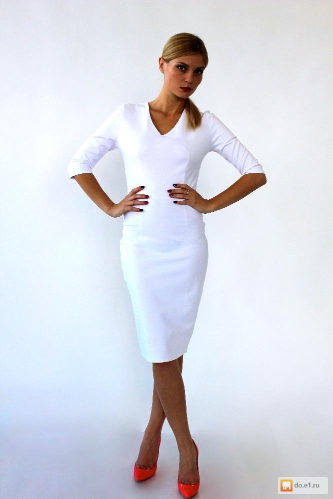 фото платье белое футляр
