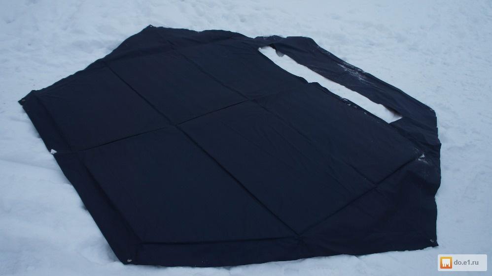 Теплый пол в зимнюю палатку