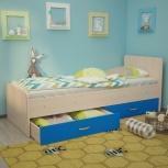Кровать Антошка, 80*190 см, голубой (ТМК), Екатеринбург