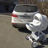 Продаётся детская коляска ADAMEX MASSIMO DELUXE 2в1 белая эко-кожа, Екатеринбург