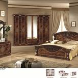 Модульная спальня Рома орех Комплект с 6-ти дверным шкафом (Авт), Екатеринбург