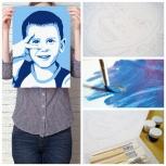 Новинка! Картина по номерам - портрет по фотографии в стиле поп-арт!, Екатеринбург