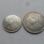 Монеты- 1 бат и 5 бат (2 шт). 2004 год.Таиланд., Екатеринбург