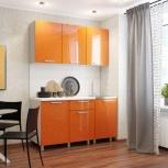 Кухня 1.5 м Оранж блестки (Бтс), Екатеринбург