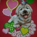 Вафельное полотенце с милыми собачками, Екатеринбург