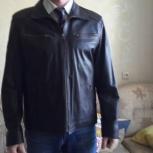 Куртка кожаная коричневая новая 52 (XL), Екатеринбург