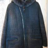 Куртка-дубленка серого цвета, 48 размер, Екатеринбург