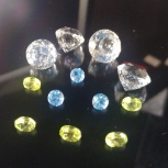 Горный хрусталь - бриллиантовая огранка Маркиза - набор из 4-х камней, Екатеринбург