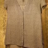 Чёрно-белая блузка свободного покроя (оверсайз) с коротким рукавом, Екатеринбург