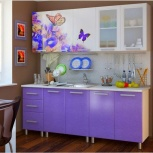 Кухня  с фотопечатью 2,0 м Люкс Ирис (Бтс), Екатеринбург