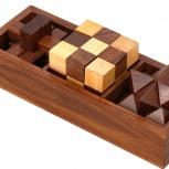 Деревянная Головоломка Wooden Puzzle 3в1, Екатеринбург