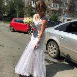 Нежное Свадебное платье 44-46 размера , фасон рыбка, Екатеринбург