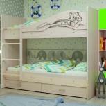 Двухъярусная кровать Мая Сафари Дуб млечный, Екатеринбург