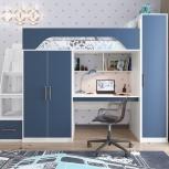 Кровать чердак Тея винтерберг-лазурь, Екатеринбург