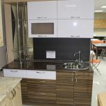 Кухня на заказ Модерн с вращающейся полкой (Финист), Екатеринбург